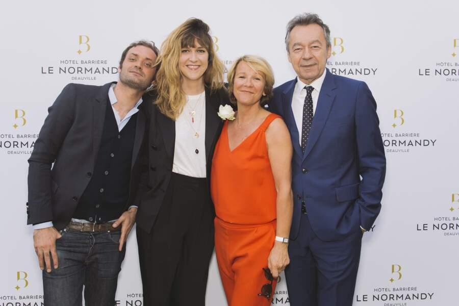 Augustin Trapenard, Daphné Bürki, Ariane Massenet et Michel Denisot