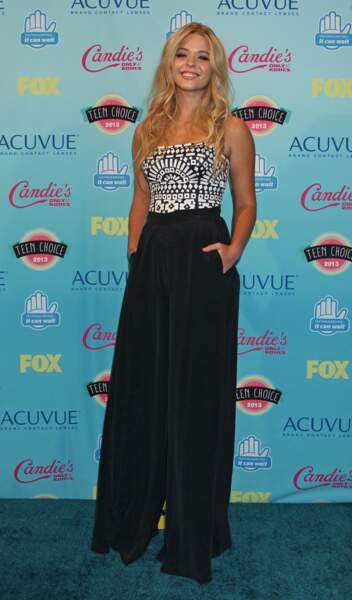 Sasha Pieterse assiste à la cérémonie des Teen Choice Awards à Los Angeles en août 2013