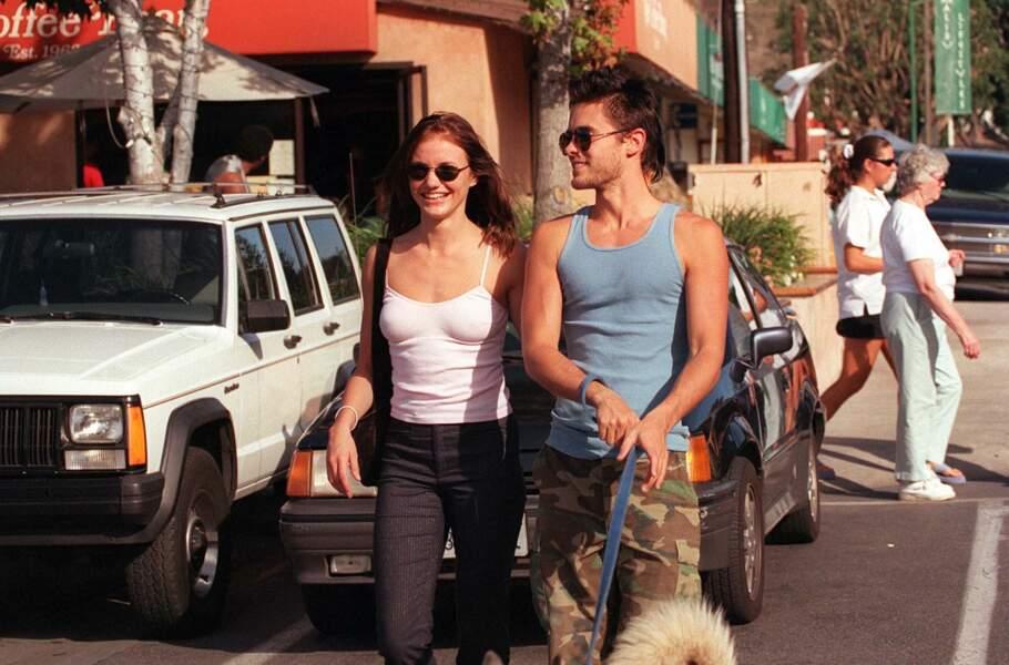 Cameron Diaz et Jared Leto à Los Angeles en 1999