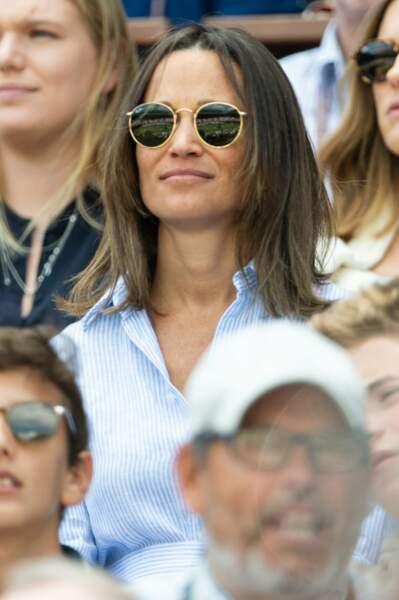 Pippa Middleton très concentrée devant les matchs