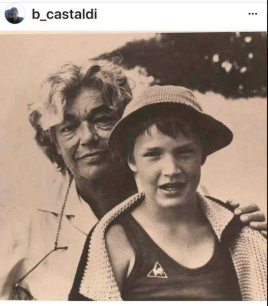 Benjamin Castaldi et sa grand-mère Simone Signoret