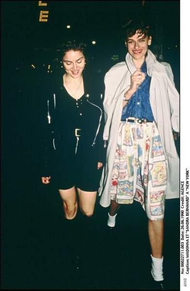 Madonna et Sandra Bernhard à New York en 1990