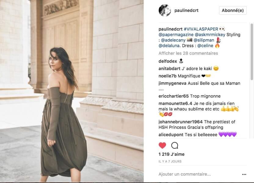 La leçon de mode de PAULINE DUCRUET en Céline pour le magazine Paper