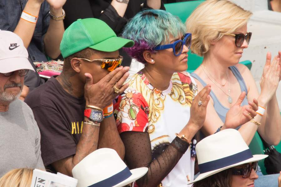 Pharrell Williams a fond dans le match