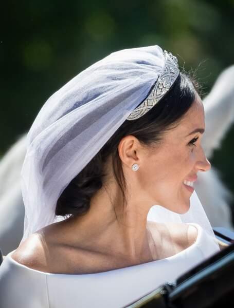 Meghan Markle lors de son mariage avec le Prince Harry à Windsor le 19 mai 2018
