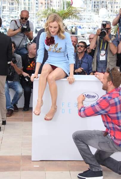 """Diane Kruger et sa robe ultra courte lors du photocall du film """"Disorder"""" à Cannes en 2015"""
