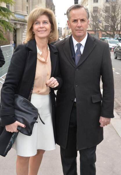 Bernard de la Villardière accompagné de sa femme Anne au défilé de mode Chloé en 2014