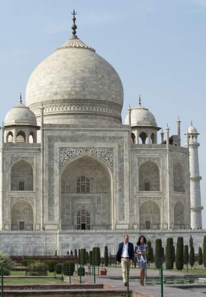 Kate & William devant le Taj Mahal - Inde - ABACA