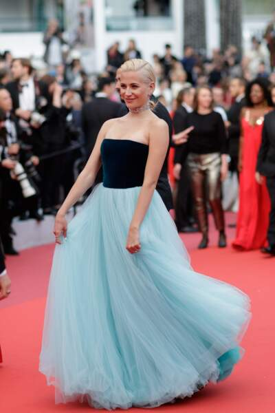 """Pixie Lott en robe en tulle Yanina Couture pour la projection du film """"La belle époque"""" à Cannes le 20 mai 2019"""