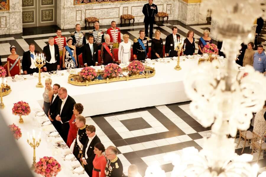 Emmanuel et Brigitte Macron invités à Copenhague au Danemark.