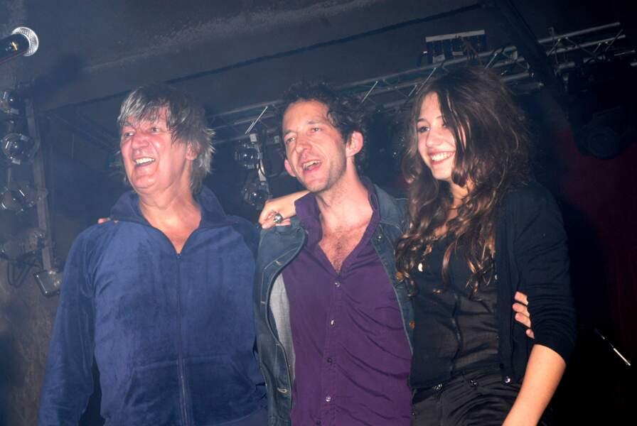 Jaqcues Higelin, Arthur H and Izia Higelin réunis sur scène lors d'un showcase à Paris en 2007