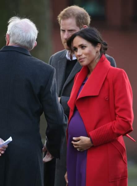 Très enceinte, la duchesse de Sussex était accompagnée du prince Harry