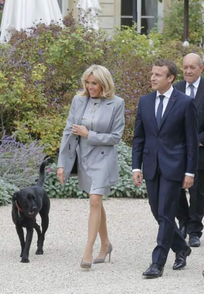 Nemo, le chien du couple présidentiel était bien évidemment de la partie.
