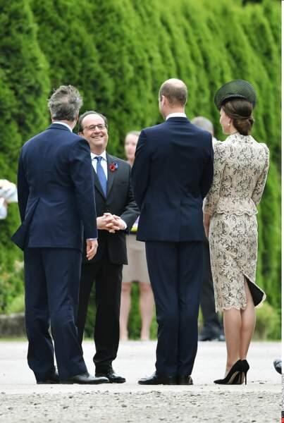 Le trio britannique a rencontré François Hollande