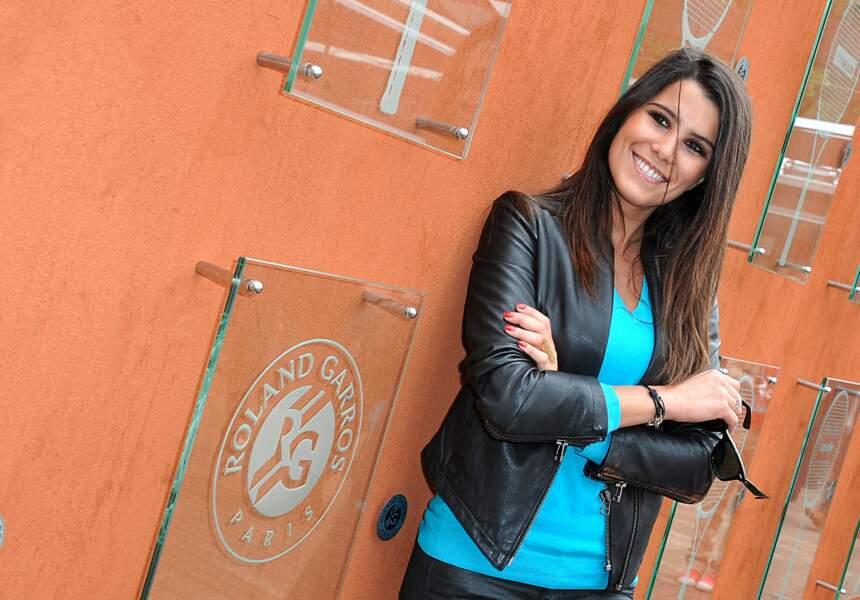 Karine Ferri au Village de Roland Garros en 2013