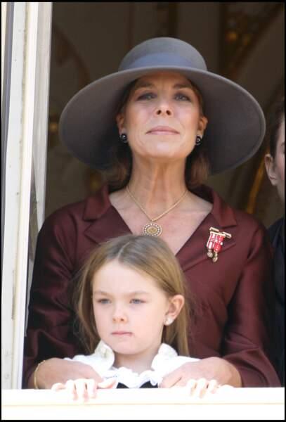 Alexandra de Hanovre et la princesse Caroline lors de la fête monégasque le 19 novembre 2007