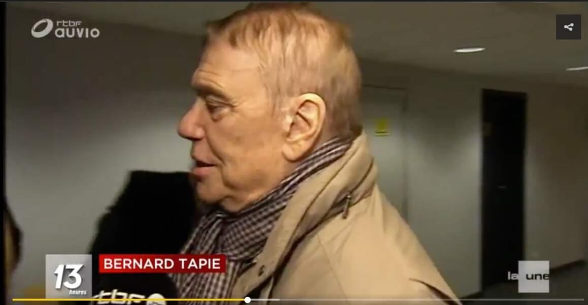 Bernard tapie en interview pour la RTBF