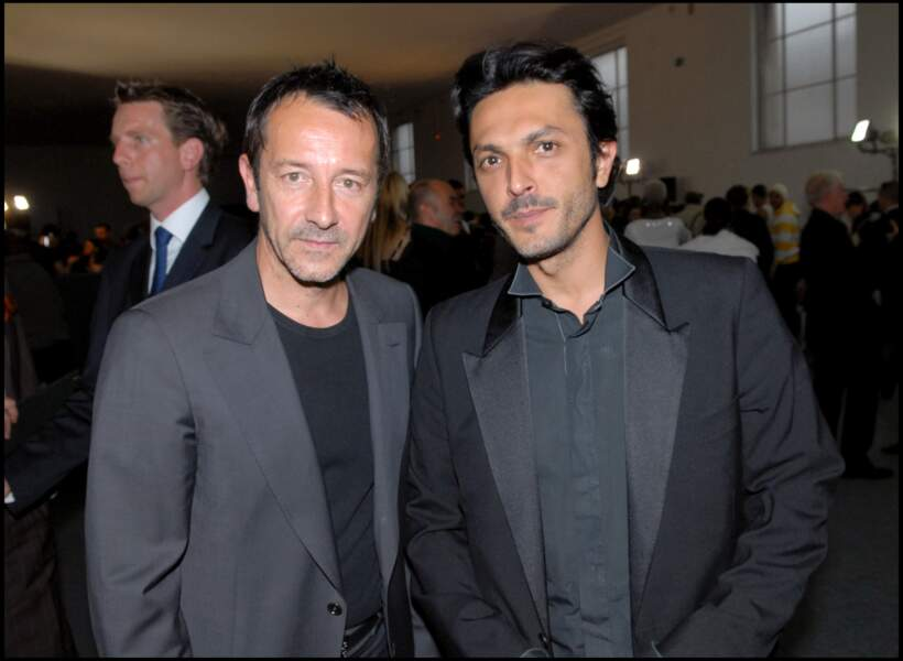Arnaud Giovaninetti au côté de Jean-Hughes Anglade au musée de l'Homme