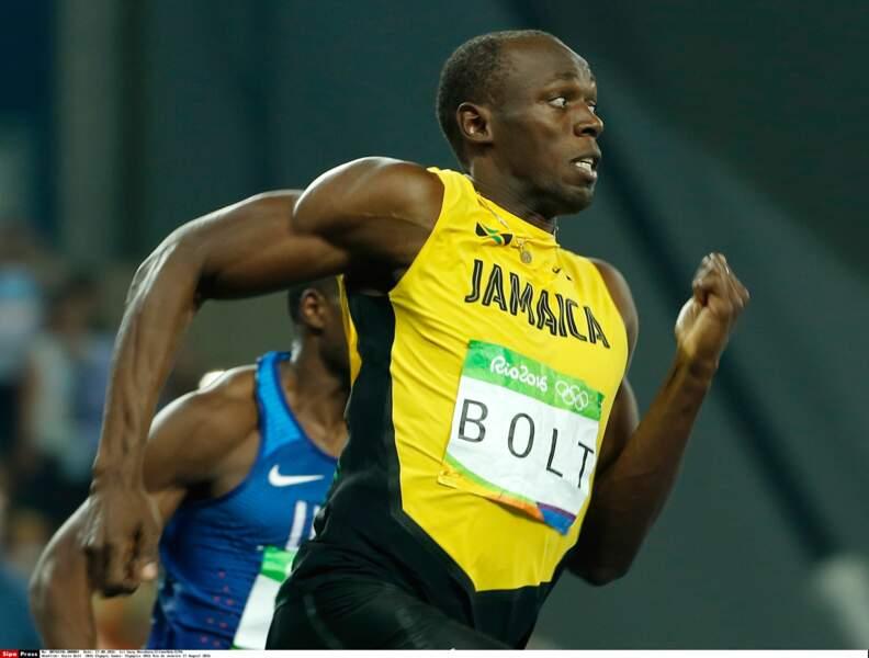 Usain Bolt sur les pistes d'athlé