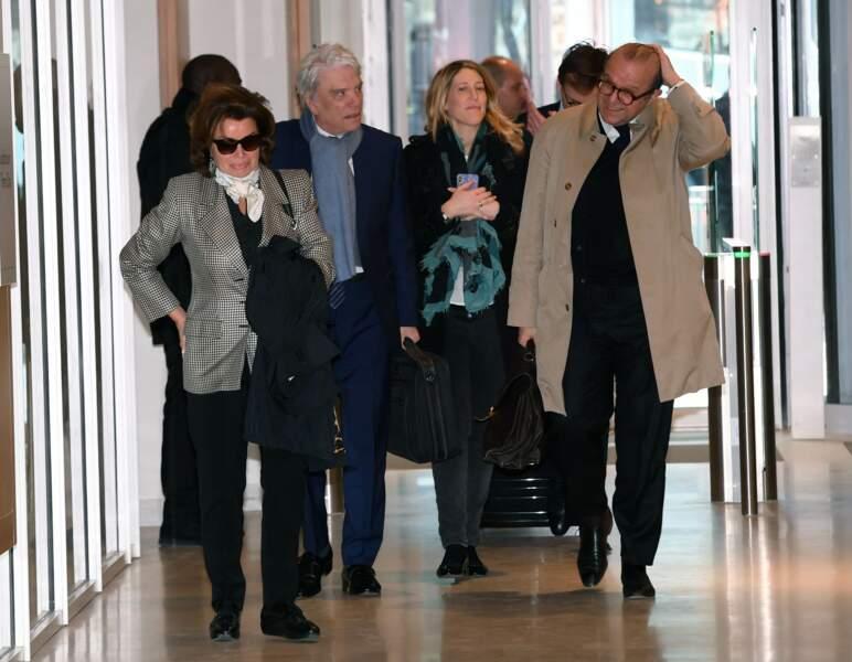 Bernard Tapie et son épouse Dominique à leur arrivée au tribunal correctionnel de Paris, le 4 avril 2019