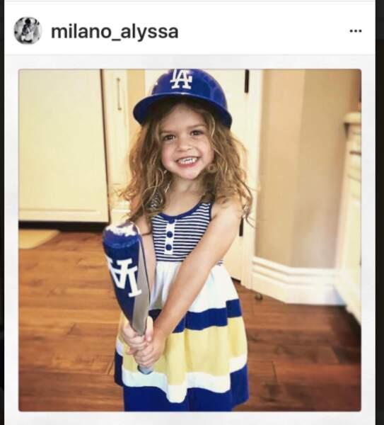 Elizabella, la fille d'Alyssa Milano