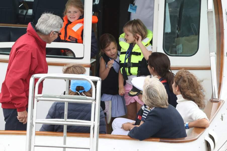 La princesse Charlotte, 4 ans, était également de la partie afin de soutenir ses parents