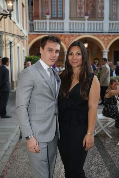 Louis Ducruet et sa fiancée Marie Chevallier très élégants à Monaco le 16 juin 2019