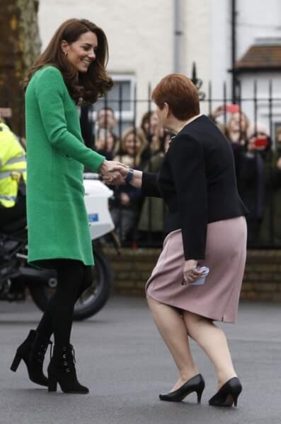 La Duchesse a pu rencontrer parents, enseignants et élèves