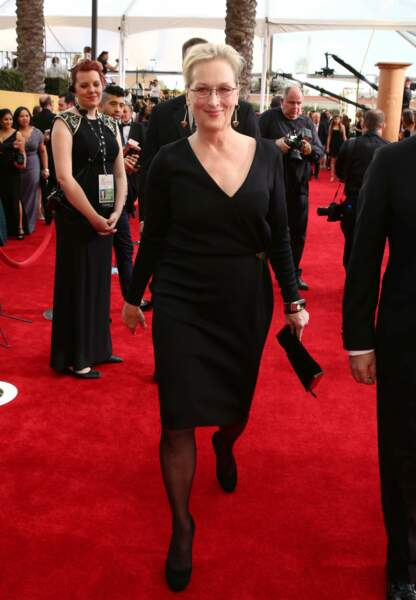 Meryl Streep dans sa petite robe noire