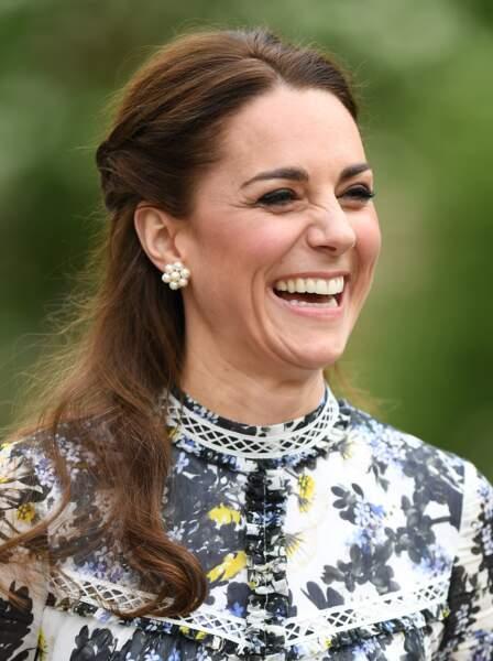 """Kate Middleton en look bohème chic le 20 mai 2019 pour le """"Chelsea Flower Show 2019"""""""