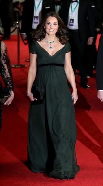 Kate Middleton, très élégante aux BAFTA 2018