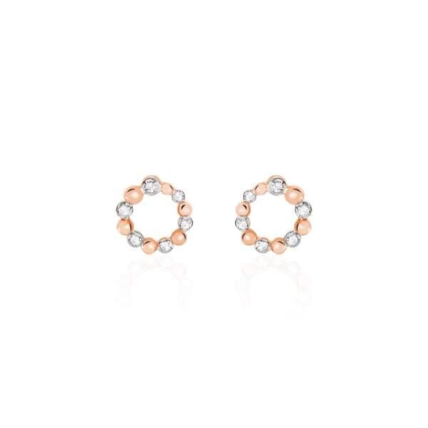 Boucles d'oreilles diamantées, 179€, Histoire d'Or.