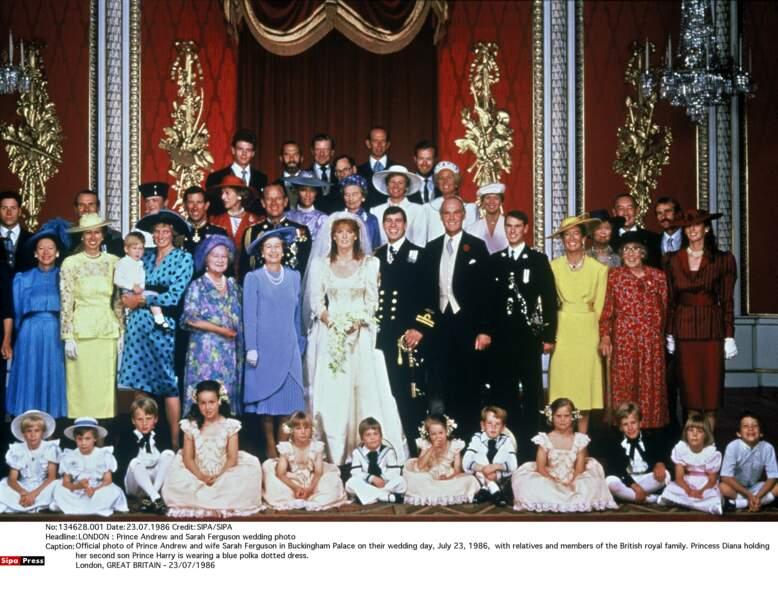 Mariage du Prince Andrew et de Sarah Ferguson, en 1986