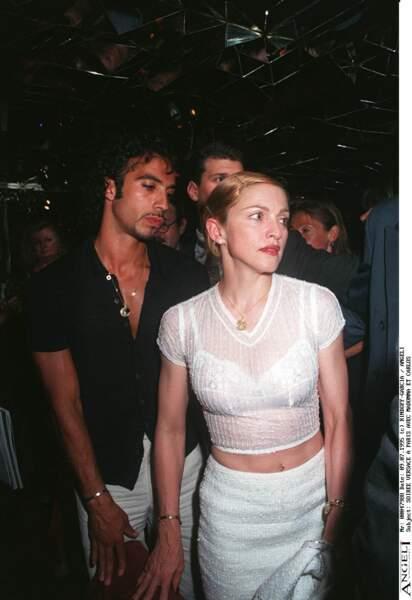 Madonna et Carlos Leon à Paris en 1995