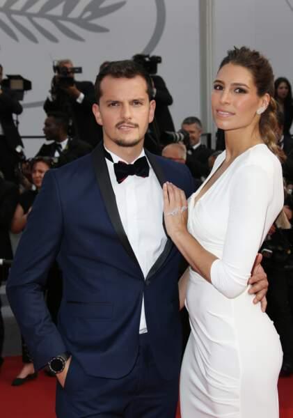 L'ancienne Miss France Laury Thilleman et Juan Arbelaez à Cannes le 23 mai 2017