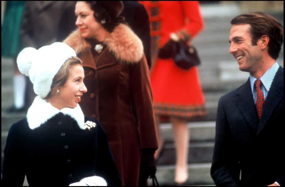 La princesse Anne d'Angleterre a été mariée à Mark Phillips. Ici, en 1974.