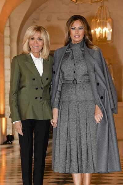 Brigitte Macron et Melania Trump  : deux premières dames qui semblent toujours heureuses de se retrouver