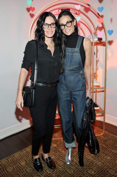 Demi Moore et Courteney Cox à Los Angeles, en Fevrier 2016