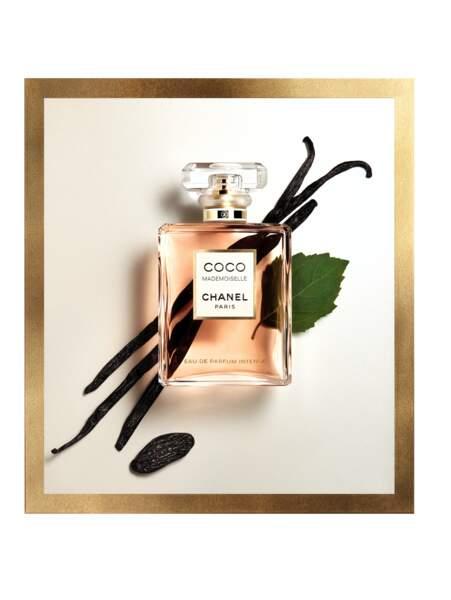 Coco Mademoiselle Eau de Parfum Intense de Chanel : du patchouli, de la vanille et de la fève tonka