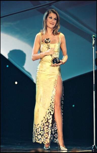 Céline Dion lors des World Music Awards en 1997