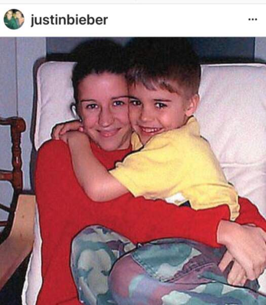 Justin Bieber et sa mère