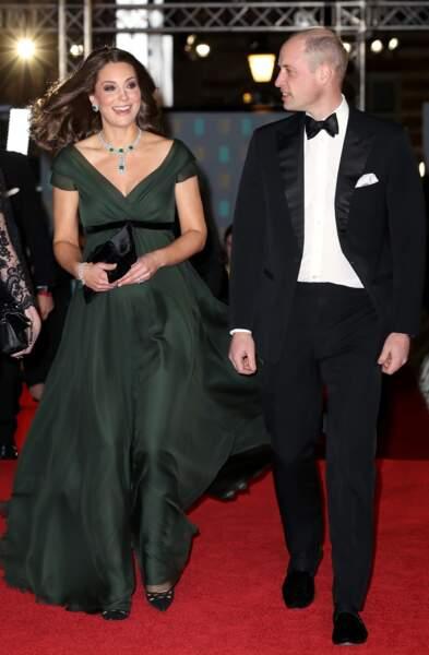 Kate Middleton et le prince William à la 71ème cérémonie des British Academy Film Awards (BAFTA)