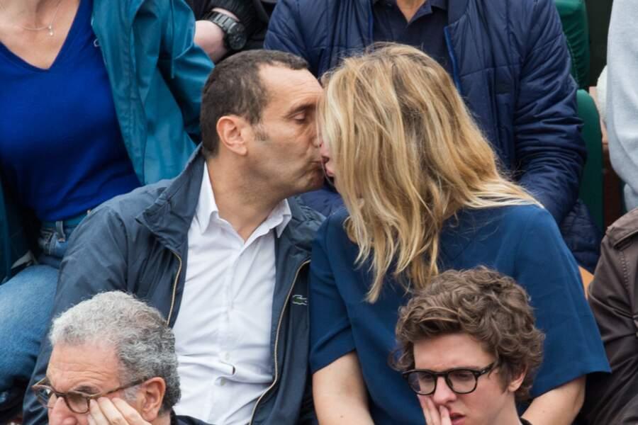 Zinedine Soualem et son épouse Caroline Faindt à Roland Garros le 29 mai 2018