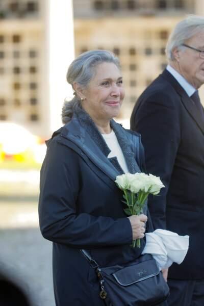 Sophie Garrel, à l'enterrement de Philippe Gildas, au cimetière du Père-Lachaise, à Paris, le 5 novembre 2018.