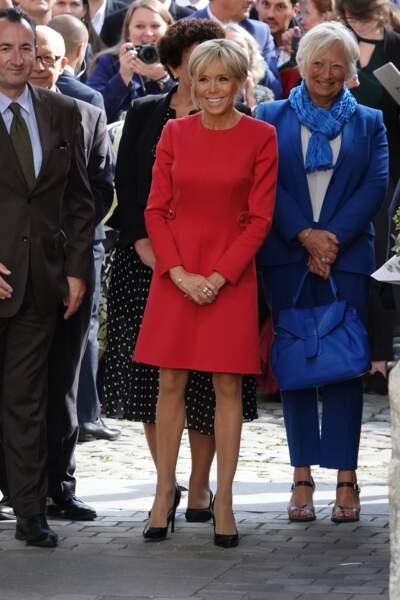 Brigitte Macron au centenaire de la Section Norvégienne du Lycée Pierre Corneille à Rouen le 24 septembre 2018