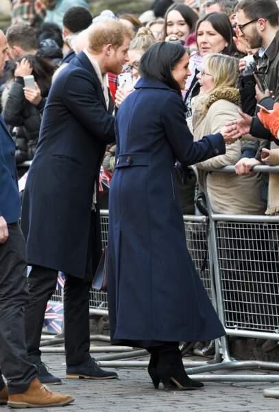 Le prince Harry et Meghan Marklefont leur première sortie officielle à Nottingham