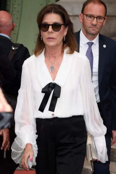Caroline de Hanovre lors de la soirée-hommage à Karl Lagerfeld, à Paris, le 20 juin 2019.
