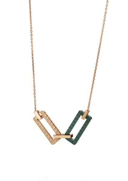 Collier en or certifié Fairmined et céramique, serti de diamants, collection Joaillerie Rihanna Loves Chopard