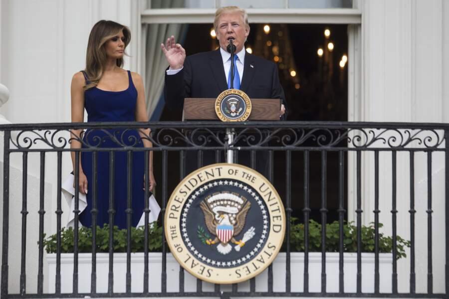 Melania Trump a confié qu'elle était très heureuse de sa nouvelle vie à Washington