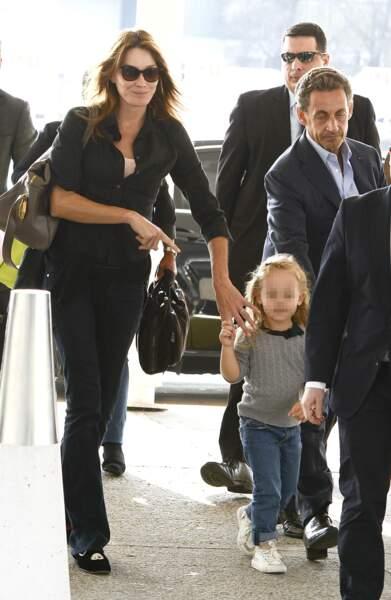 Ici à l'aéroport international Ezeiza de Buenos Aires, en août 2015, toujours avec ses parents
